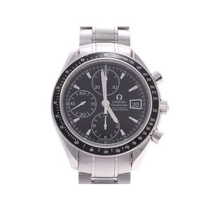 オメガ スピードマスターデイト 黒文字盤 3210.50 メンズ SS 自動巻 腕時計 Aランク 美品 OMEGA 中古 銀蔵
