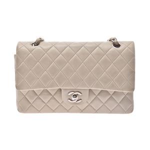 シャネル(Chanel) シャネル チェーンショルダーバッグ 25cm グレー系 レディース ラムスキン Bランク CHANEL 箱 ギャラ 中古 銀蔵