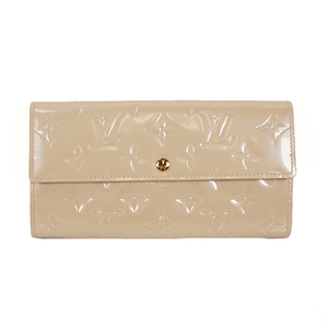 Auth Louis Vuitton Monogram Vernis zippy wallet Long