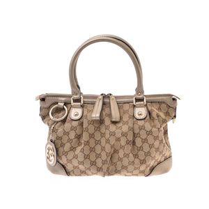 Gucci 2WAY bag beige / Gold Women's GG canvas calf