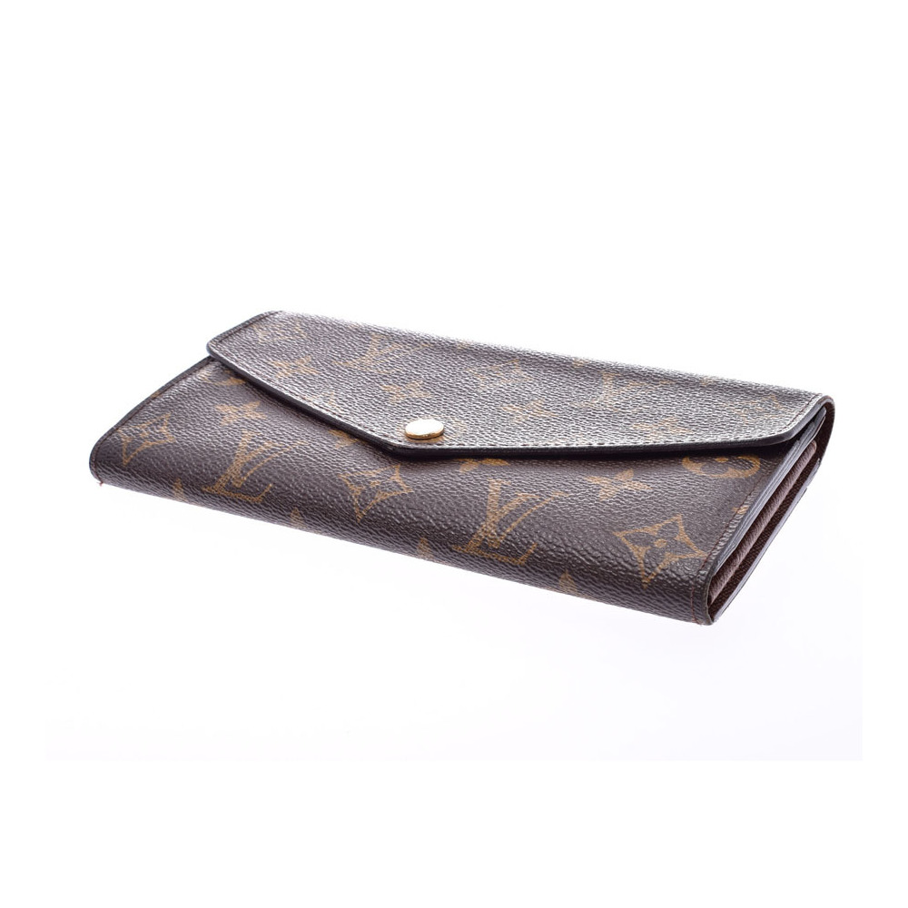 innovative design c347b 13c30 Louis Vuitton Monogram Portofoeil Sarah Brown M62234 Men's Genuine Leather  Long Purse B rank LOUIS VUITTON Used Ginzo | eLady.com