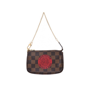 Louis Vuitton Damier Mini Accessory Pouch T & B Brown N58011 Ladies Genuine Leather