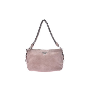 Prada One Shoulder Bag Leather Shoulder Bag Pink