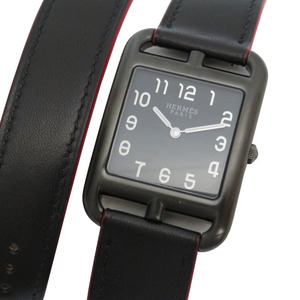 Like New Hermes Cape Cod Shadow GM CC3.711 Quartz Watch SS Black A Engraved (made in 2017) Dial 0246 HERMES Men