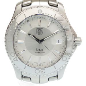 Tag Heuer LINK Link Quartz Watch SS Silver Dial 0149 TAG HEUER Men