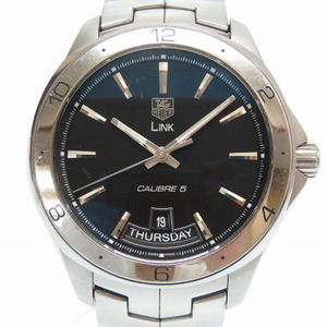 Tag Heuer LINK Link Caliber 5 Day-Date Back-Sleeve Automatic Watch SS Navy Dial 0146 TAG HEUER Men