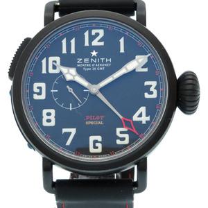 Zenith Pilot Aeronev Type 20 GMT World Limited 500 Titanium Black Automatic Watch Dial 0270 ZENITH Men