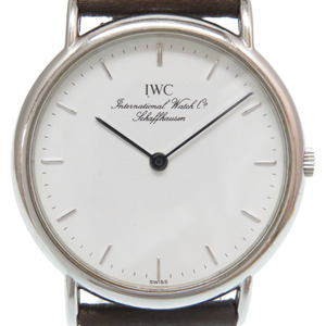 IWC International Watch Company Portofino Quartz 3341 White Dial 0241 Mens
