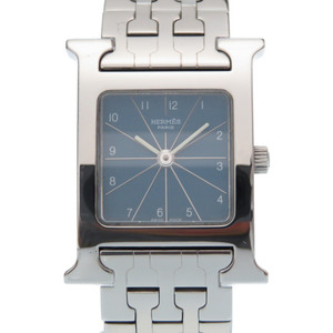 Like New Hermes H Watch Quartz HH1.210 SS Blue Dial 0007 HERMES Ladies