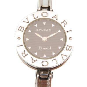 BVLGARI B-Zero1 Bangle Watch BZ22S Quartz BZero1 Stainless Steel Silver Black Dial 0253 Women