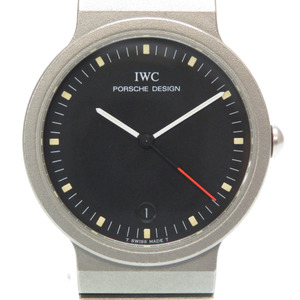 IWC International Watch Company Porsche Design Sportivo Titanium Quartz Black Dial 0147 Mens