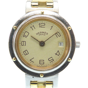 Hermes Clipper Quartz Watch Combi Gold / Silver 0255 HERMES Women