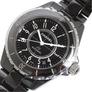 Chanel CHANEL J12 38mm H0685 Black Ceramic Automatic Rolled Mens Watch