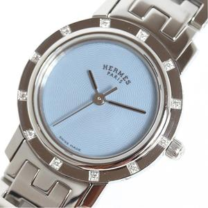 Hermes HERME'S Clipper Nacre CL4.230 12P Diamond Blue Shell Quartz Ladies Watch