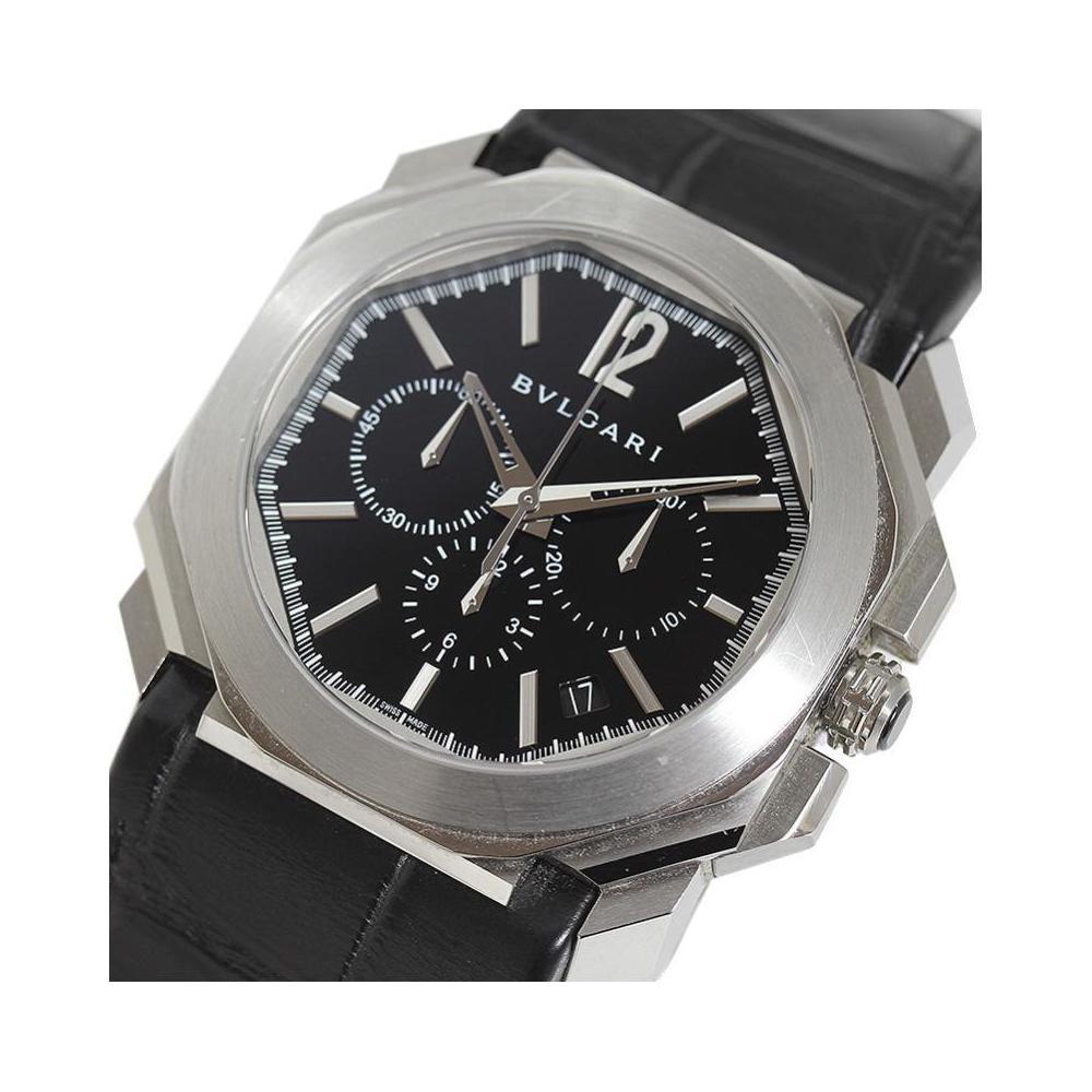 premium selection acc5f 6fdce ブルガリ BVLGARI オクト クロノグラフ BGO41BSLDCH 自動巻き レザーベルト メンズ 腕時計   eLady.com