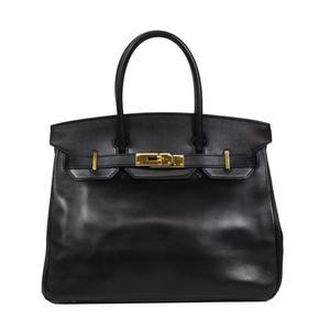 エルメス(Hermes) エルメス HERMES  バーキン30  ボックスカーフ □E刻 ブラック ゴールド金具 ハンドバッグ