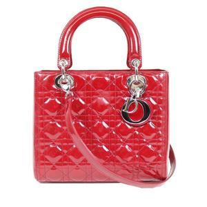 ディオール(Dior) ディオール Dior  レディディオール  VRB44551 パテントレザー レッド ハンドバッグ