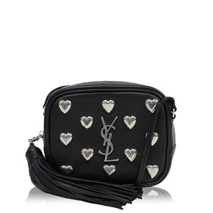Imported from Europe Saint Laurent SAINT LAURENT Blogger bag with studs 447956 Black Silver hardware Shoulder Women