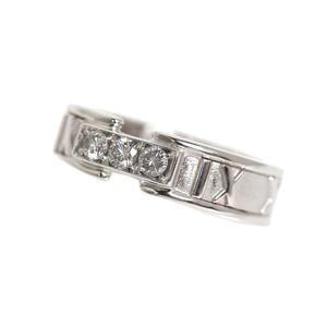 ティファニー(Tiffany) ティファニー TIFFANY&CO  アトラス リング  K18WG ダイヤモンド レディース 指輪 ジュエリー 仕上げ済み