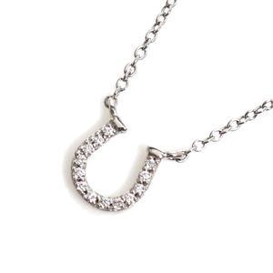 ティファニー(Tiffany) ティファニー TIFFANY&CO  メトロ ホースシュー ペンダント  K18WG ダイヤモンド レディース ネックレス ジュエリー 仕上げ済み