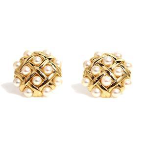 シャネル(Chanel) シャネル CHANEL  パールイヤリング  K18YG 真珠 レディース ジュエリー アクセサリー 仕上げ済み