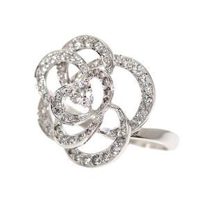 シャネル(Chanel) シャネル CHANEL  カメリア コレクション リング  J2579 K18WG ダイヤモンド レディース 指輪 ジュエリー 仕上げ済み
