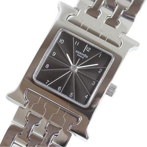 HERMES HERME'S H watch HH1.210 black breath quartz ladies