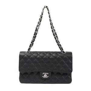 シャネル(Chanel) シャネル CHANEL  限定マトラッセ25 Wフラップチェーンショルダーバッグ  A01112 キャビアスキン
