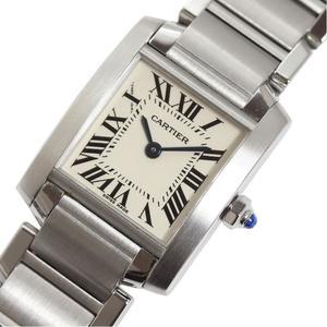 カルティエ Cartier  タンクフランセーズSM  W51008Q3 クォーツ レディース 腕時計