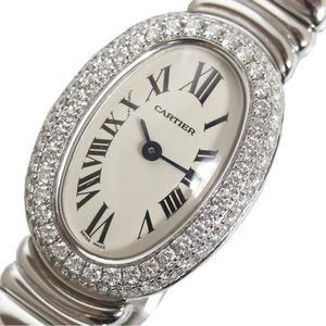 カルティエ Cartier  ミニベニュワール  WB5095L2 WG無垢 ダイヤベゼル クォーツ レディース 腕時計