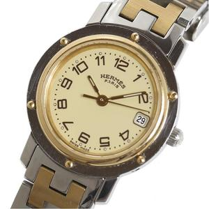 HERMES HERME'S Clipper CL4.220 Combi Ivory Ladies Quartz Watch