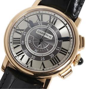 カルティエ Cartier  ロトンド ドゥ カルティエ セントラル クロノグラフ  W1555951 PG無垢 手巻き メンズ 腕時計