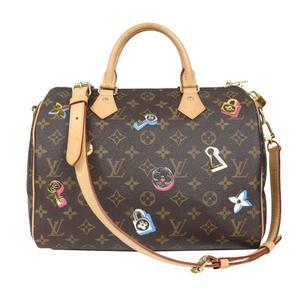 Louis Vuitton Monogram Speedy Bundriere 30 Love Lock M44365 Handbag LOUISVUITTON