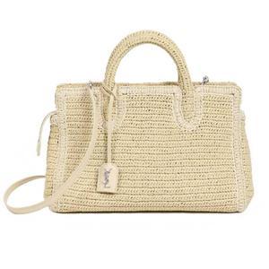 Saint Laurent SAINT LAURENT Kava Liv Gauche 400413 Raffia Natural Handbag