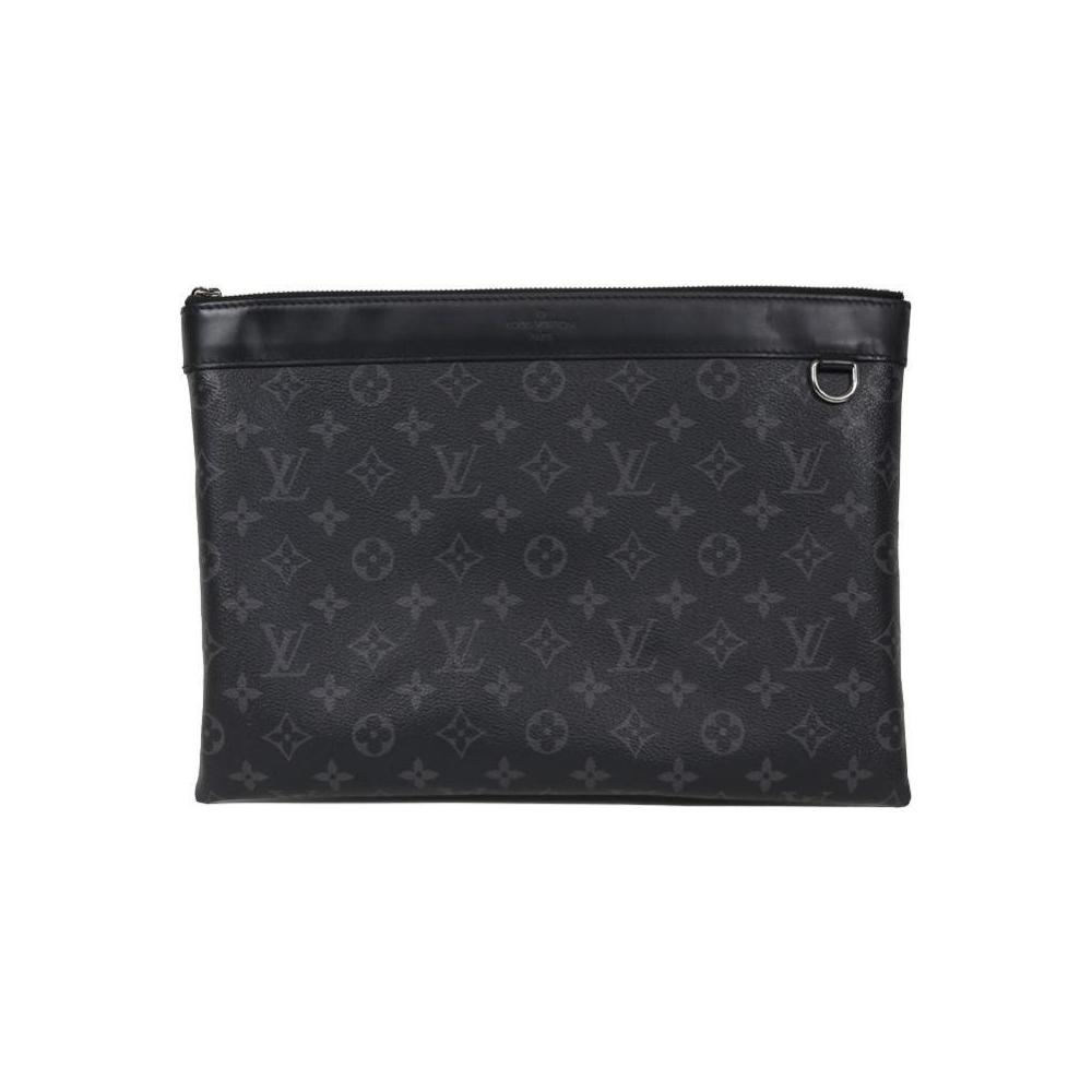 c4b9e7d89a Louis Vuitton Monogram Eclipse Pochette Discovery M62291 Clutch Bag Men's  LOUISVUITTON | eLady.com