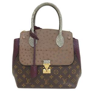 Genuine Louis Vuitton Monogram Exotic Tote PM Handbag Bordeaux Leather