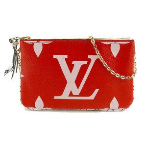 Genuine Louis Vuitton Monogram Giant Pochette Doble Zip M67561 Leather