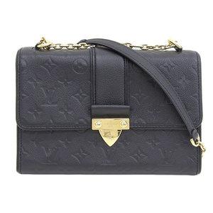 Genuine Louis Vuitton Monogram Anplant Saint-Sulpice PM Shoulder Bag Noir Leather