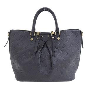 Genuine Louis Vuitton Monogram Unplant Mazarine MM 2WAY handbag black M50643 leather