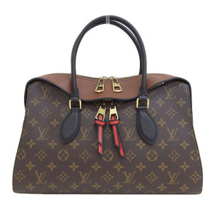 Genuine Louis Vuitton Monogram Tuilerie Tote 2WAY Bag Caramel M41456 Leather