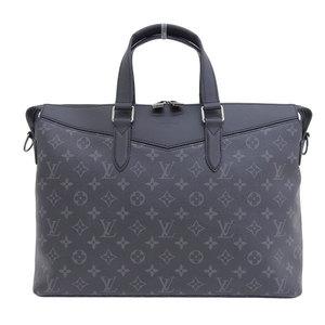 Genuine Louis Vuitton Monogram Eclipse Briefcase Explorer M40566 Leather