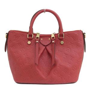 Genuine Louis Vuitton Monogram Unplant Mazarine PM 2WAY handbag red M50638 leather