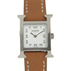 B Rakuichi Main Store ☆ Genuine HERMES Hermes H Watch Mini Ladies Quartz HH1.110