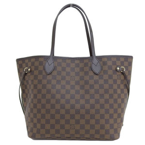 Genuine Louis Vuitton Damier Neverfull MM Rose Valerine N41603 Leather