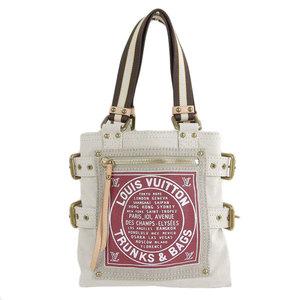 Genuine Louis Vuitton Cruise Grove Shopper Tote Bag Beige Bordeaux M95115 Leather