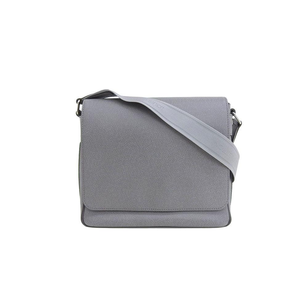 3bed412c24a Genuine Louis Vuitton Taiga Roman PM Shoulder Bag Gracie Gray M32700  Leather | eLady.com
