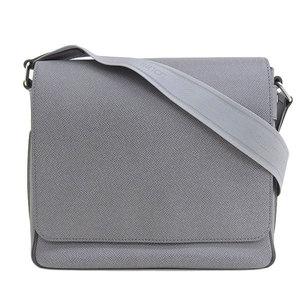 Genuine Louis Vuitton Taiga Roman PM Shoulder Bag Gracie Gray M32700 Leather