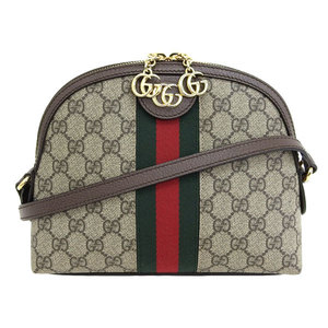 Genuine GUCCI Gucci Off Deer GG Supreme Shoulder Bag 499621 Leather