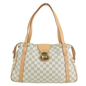 Genuine Louis Vuitton Damier Azul Stresa Shoulder Bag Leather