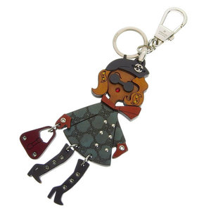 Genuine GUCCI Gucci Wood Lady Keyring Key Holder